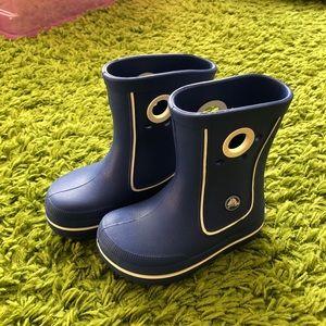 Crocs blue rain boots size 9